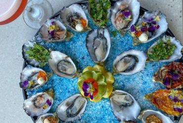 Selection of fresh Oysters.