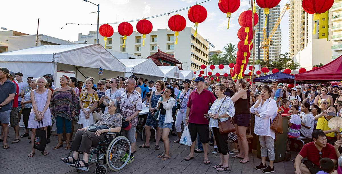 Group of people at Laksa Festival